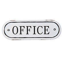 Plechová cedulka na dveře Office
