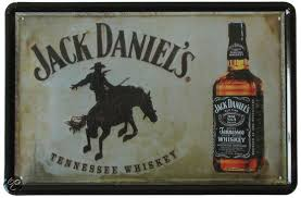 Plechová cedule Jack Daniels Kůň