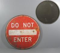 Plechová cedule Do not enter - jednosměrka