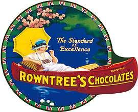 Plechová cedule Rowntrees Canoe Chocolates