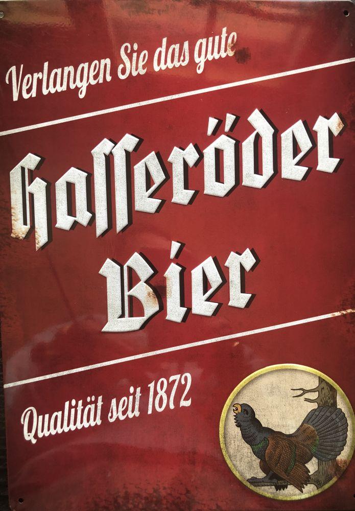 Plechová cedule Holleröder bier - pivo