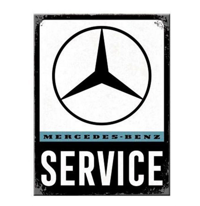 Plechová cedule Mercedes Service