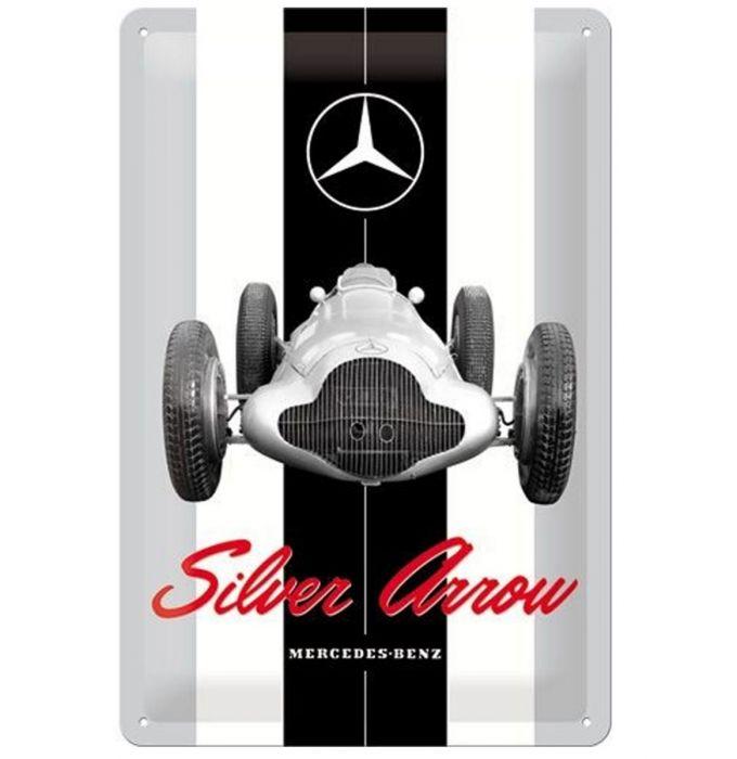 Plechová cedule Mercedes Silver Arrow
