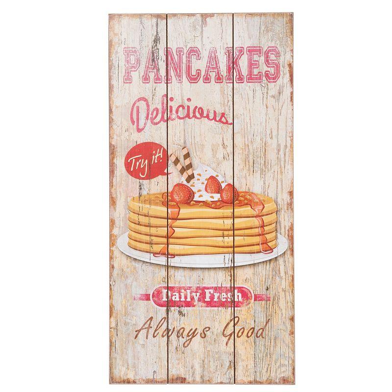 Dřevěná cedule Pancakes delicious daily fresh palačinky