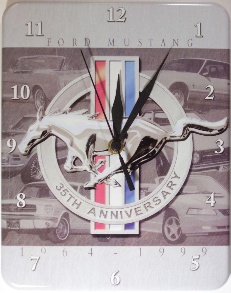 Plechové hodiny Mustang Anniversary