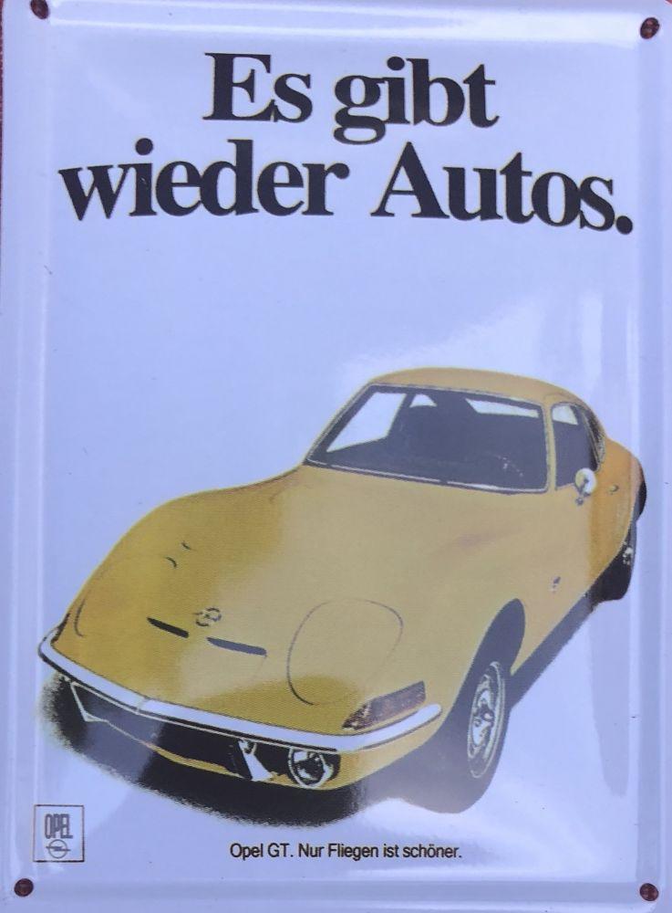 Plechová cedulka Opel Es gibt wieder Autos
