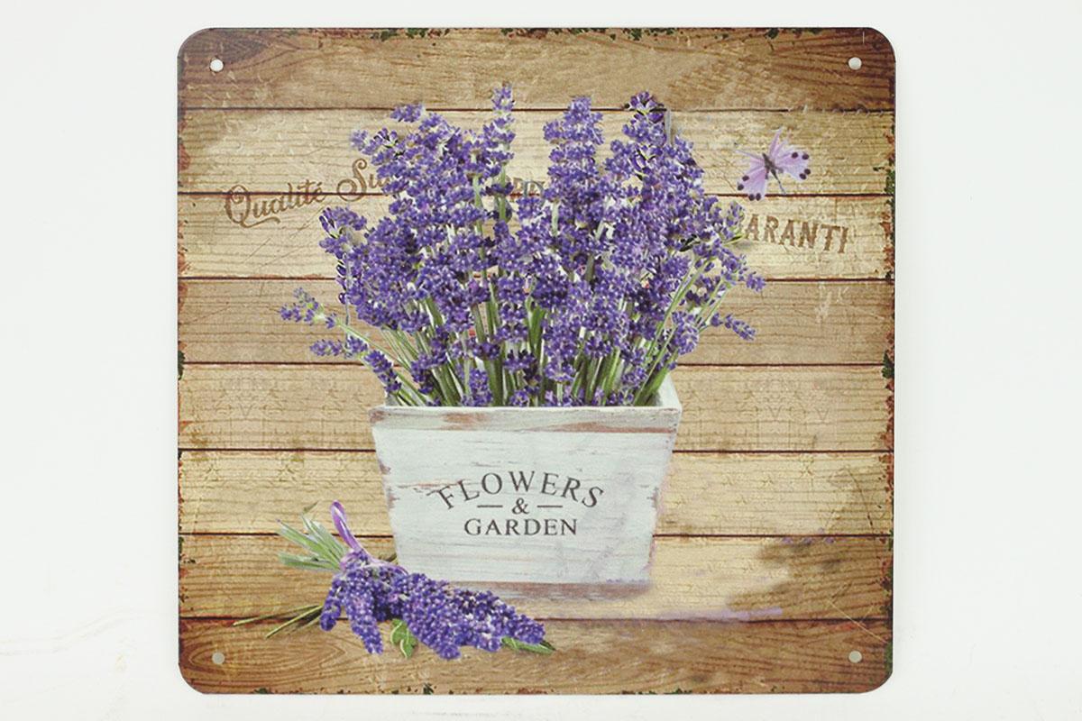 Plechová cedule Levandule - Lavande Flowers garden