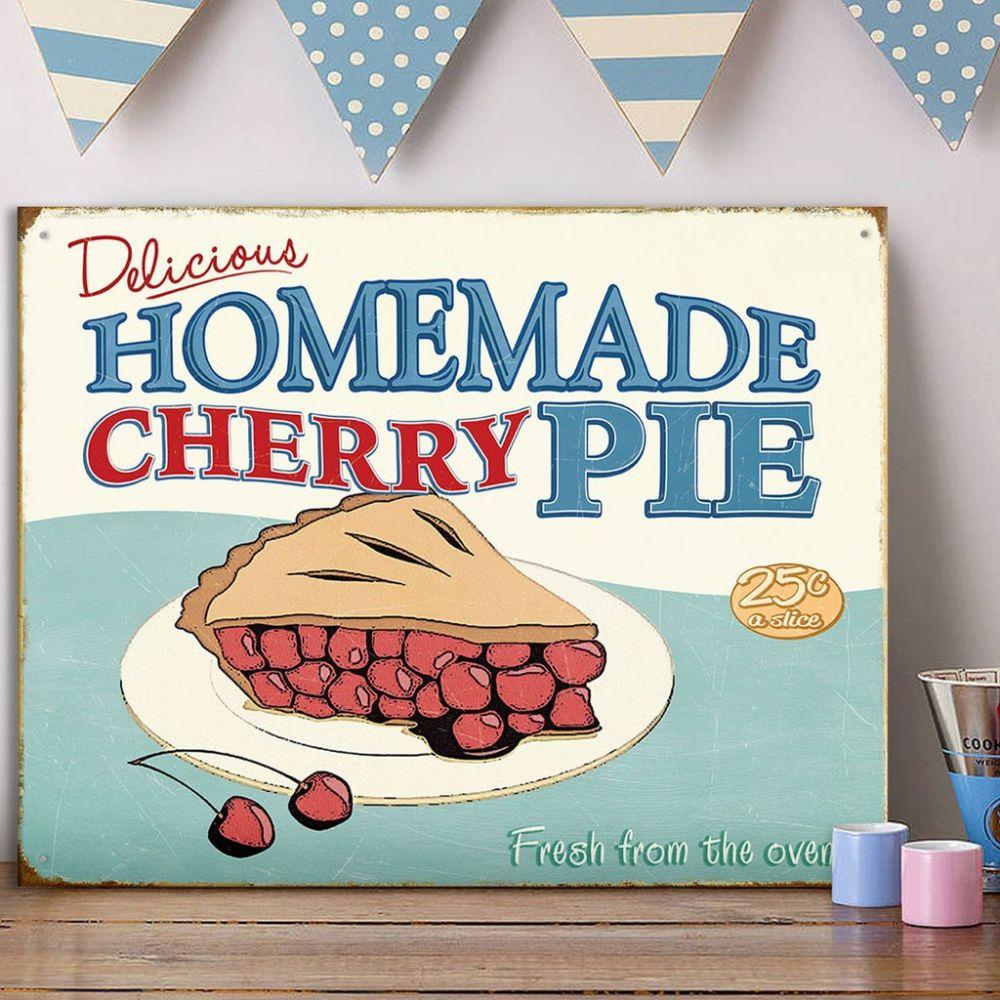 Plechová cedule Homemade cherry pie