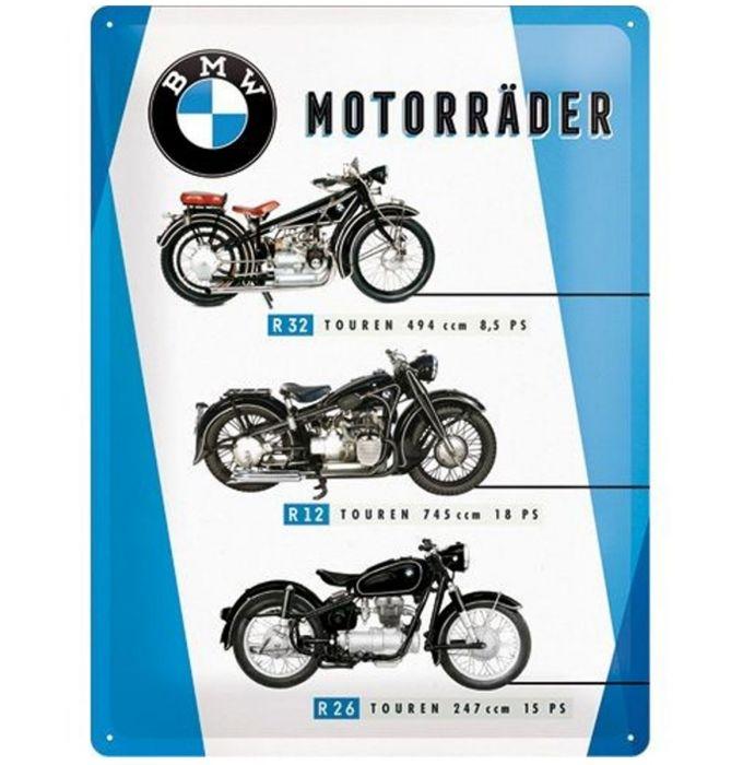 Plechová cedule motorka Motorräder
