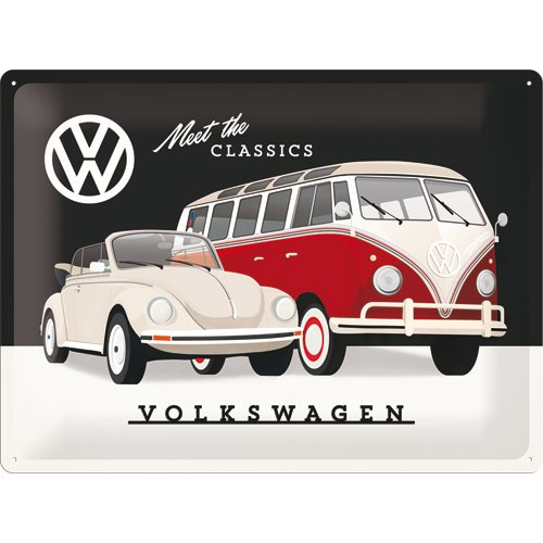 Plechová cedule VW Meet The classic