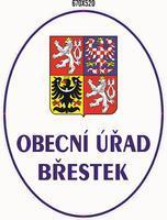 Smaltovaná cedule Obecní úřad se státním znakem Břestek
