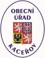Smaltovaná cedule Obecní úřad se státním znakem Kaceřov