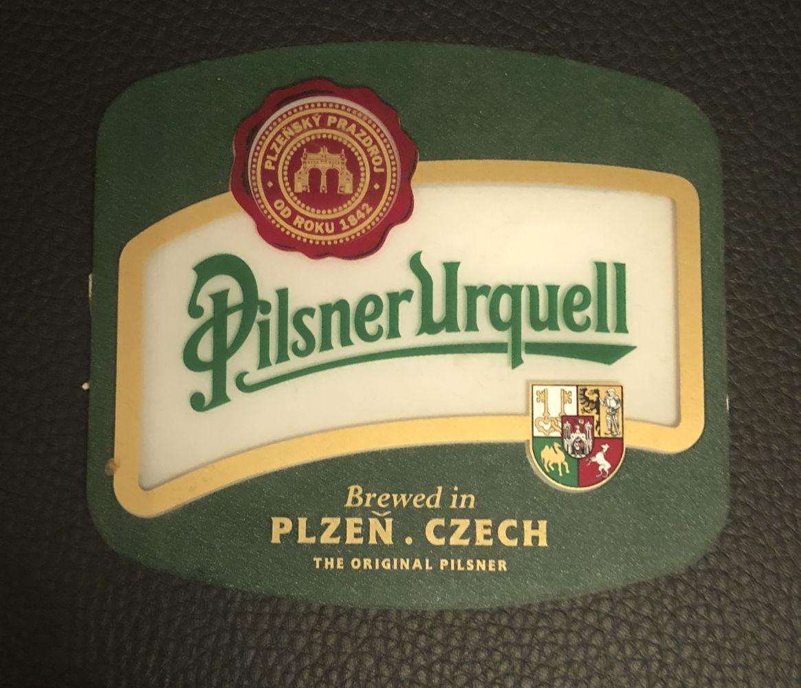 Plastová cedulka Pilsner Urquell