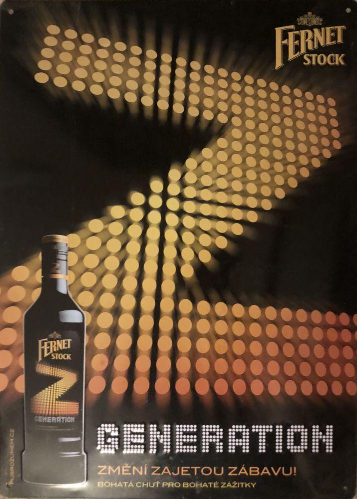 Plechová cedule Fernet láhev Stock Z generation
