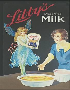 Plechová cedule Libby´s milk