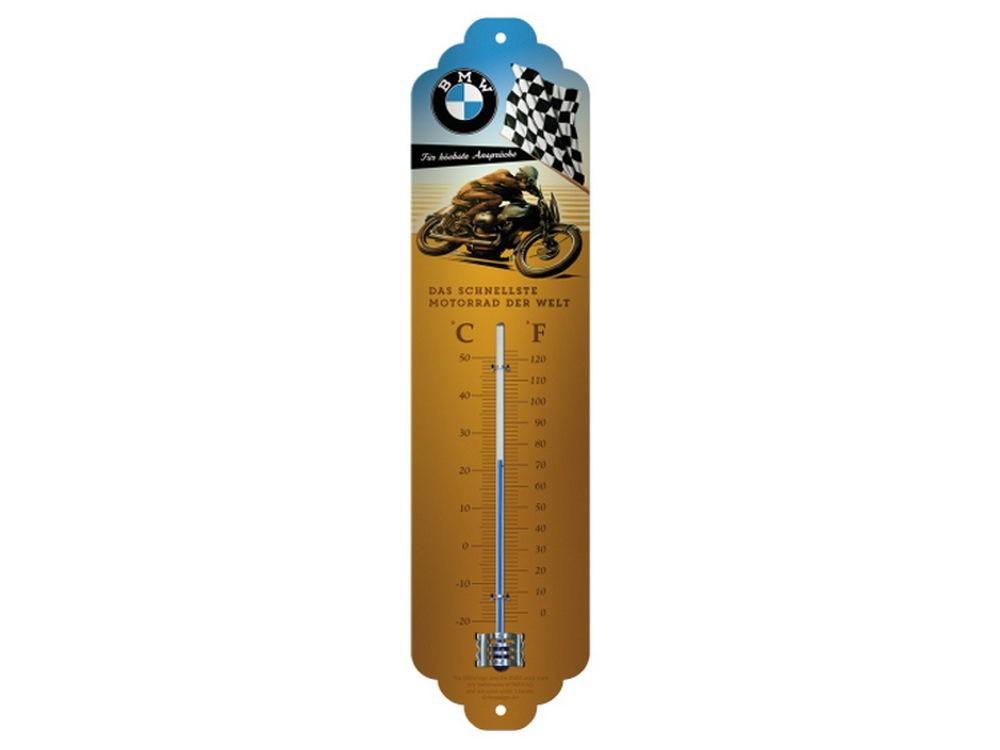 Plechový teploměr motorka BMW motorkář