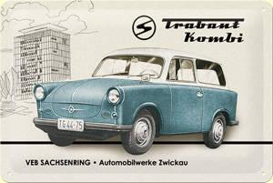 Plechová cedule Trabant Kabriolet