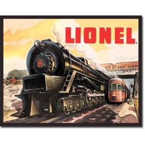 Plechová cedule vlak Lionel
