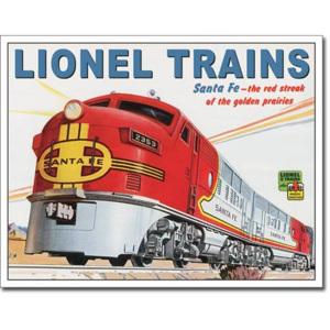 Plechová cedule vlak Lionel trans