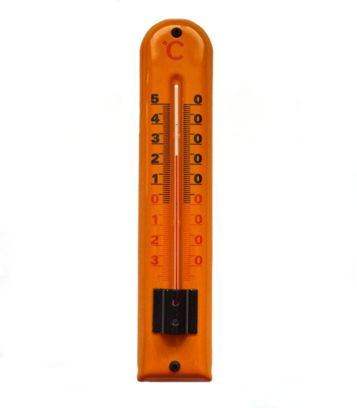 Smaltovaný teploměr Klasik oranžový