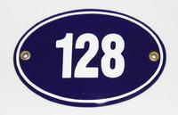 Smaltovaná cedulka Domovní číslo ovál
