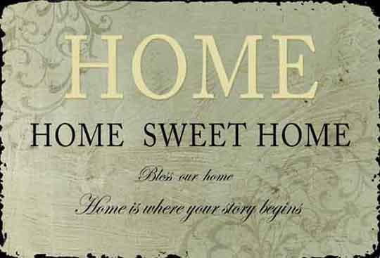 Plechová vintage cedule Home sweet home