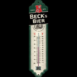 Plechový teploměr Beck Bier