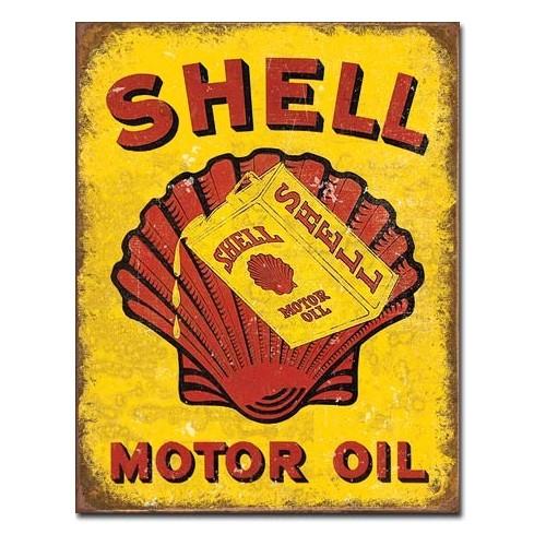 Plechová cedule Shell Motor oil