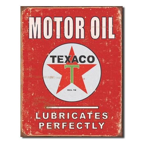 Plechová cedule Motor oil Texaco