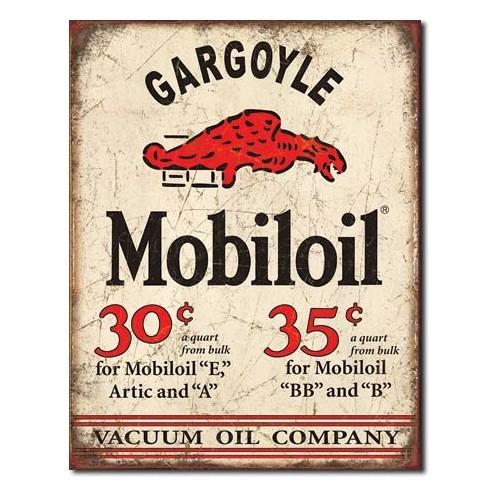 Plechová cedule Motor oil Gargoyle