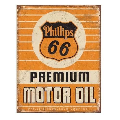 Plechová cedule Phillips 66 premium oil
