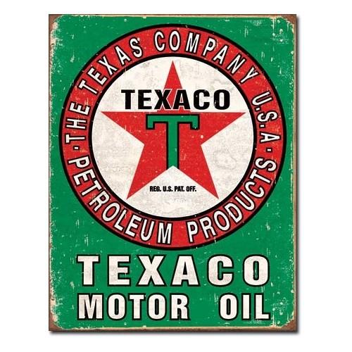 Plechová cedule Texaco oil