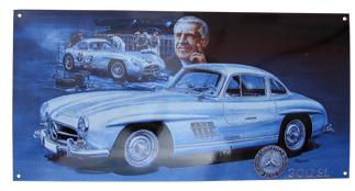 Smaltovaná bombírovaná cedule Mercedes L