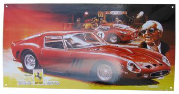 Smaltovaná bombírovaná cedule Ferrari