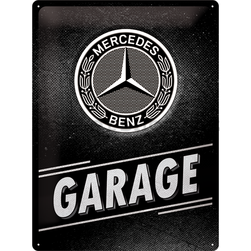 Plechová cedule Mercedes Garage