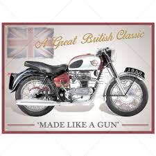 Plechová cedule motorka Royal Enfield crusader sports