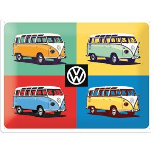 Plechová cedule VW Bulli pop
