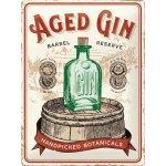 Plechová cedule Aged gin