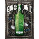 Plechová cedule Gin and Tonic premium