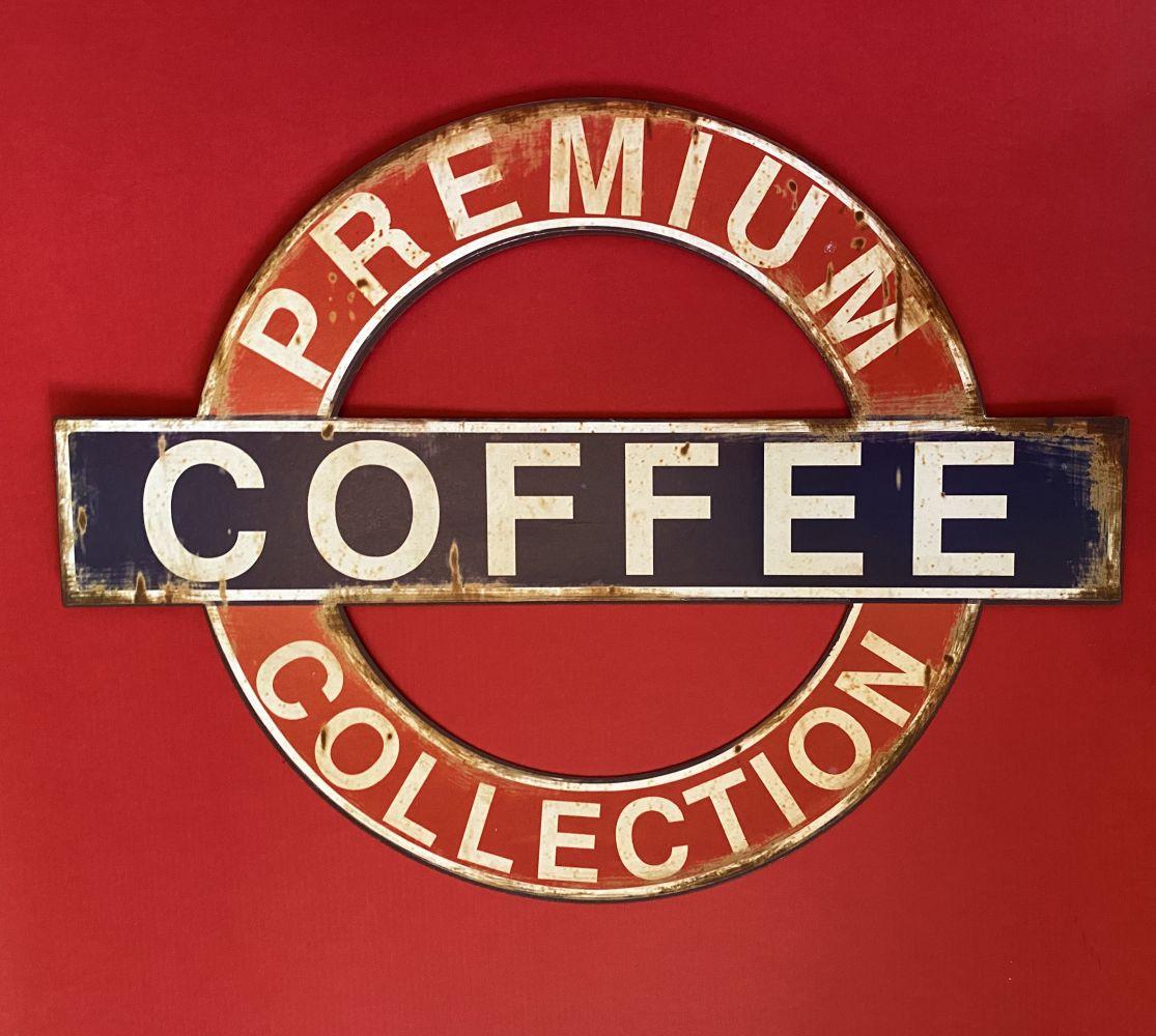 Plechová cedule Premium Coffee collection