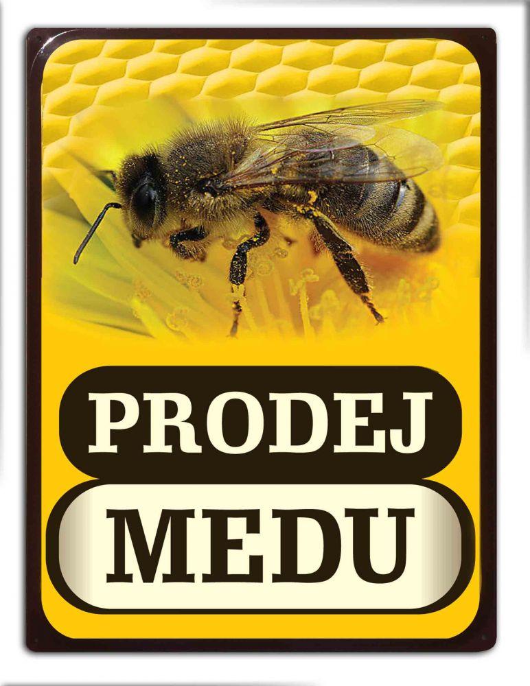 Plechová cedule Prodej medu