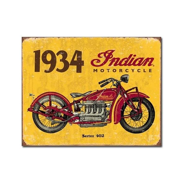 Plechová cedule motorka Indian motorcycle 1934 new