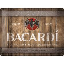 Plechová cedule Bacardi rum 1862