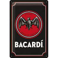 Plechová cedule Bacardi rum netopýr