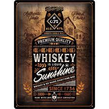 Plechová cedule Whiskey sunshine