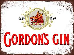 Plechová cedule Gordon's Gin