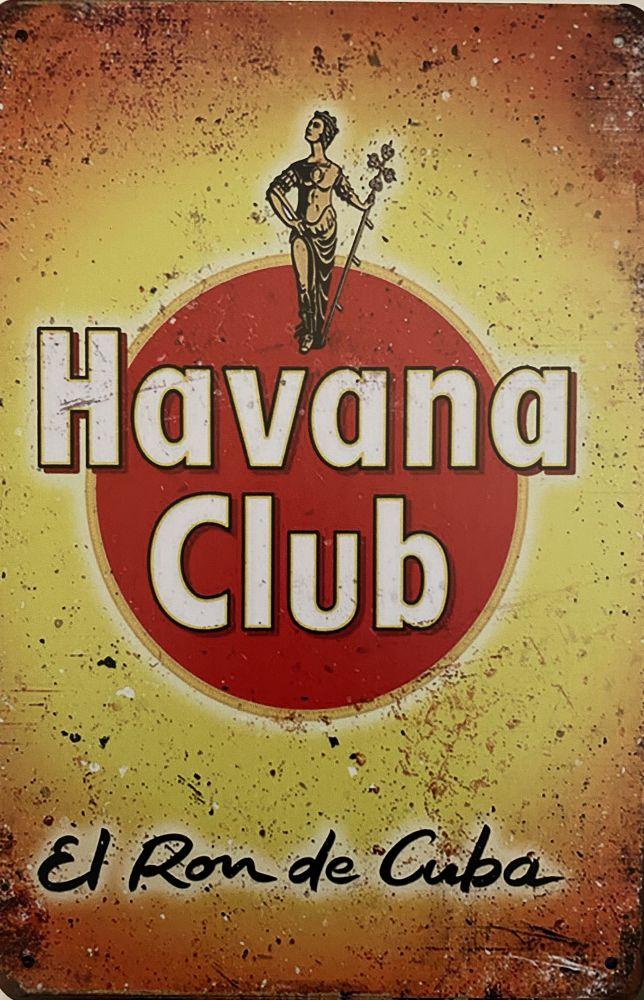 Plechová cedule Havana club El Ron de Cuba