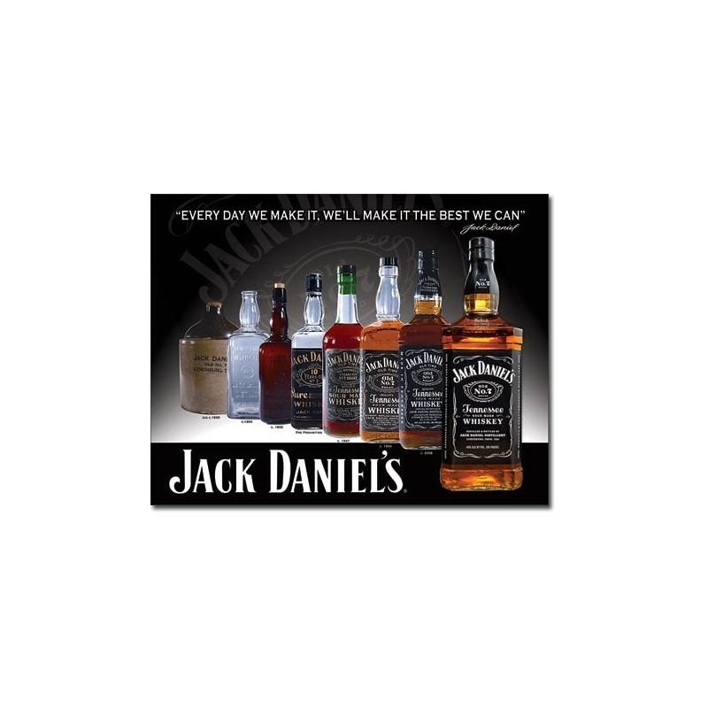 Plechová cedule Jack Daniels Bottles