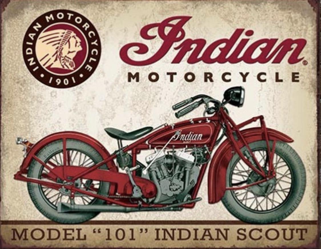 Plechová cedule motorka Indian Scout