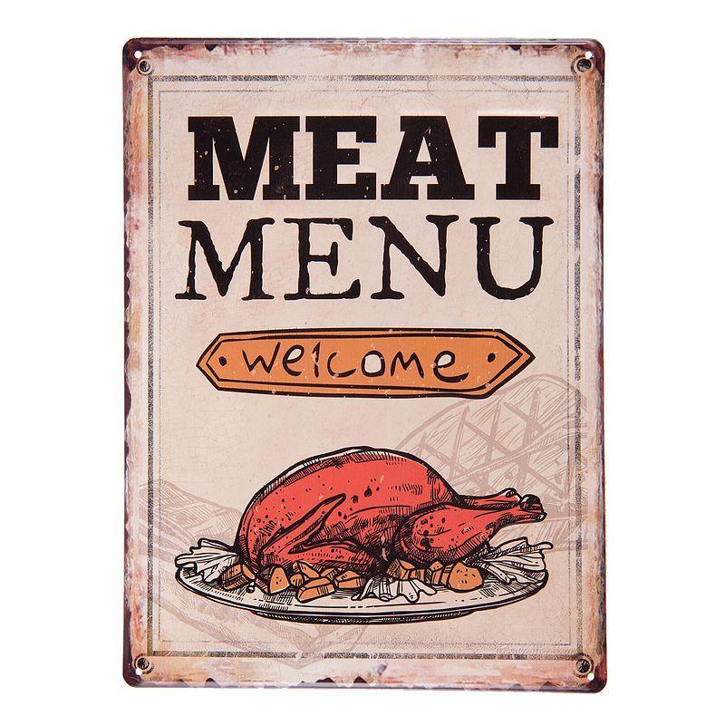 Plechová cedule Meat menu